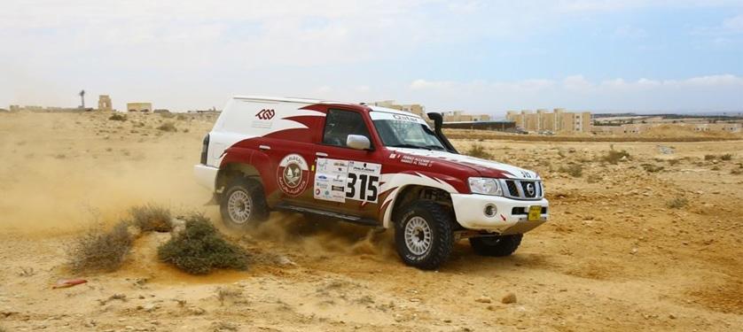Lo Sceicco Al-Thani sul podio del Pharaons Rally